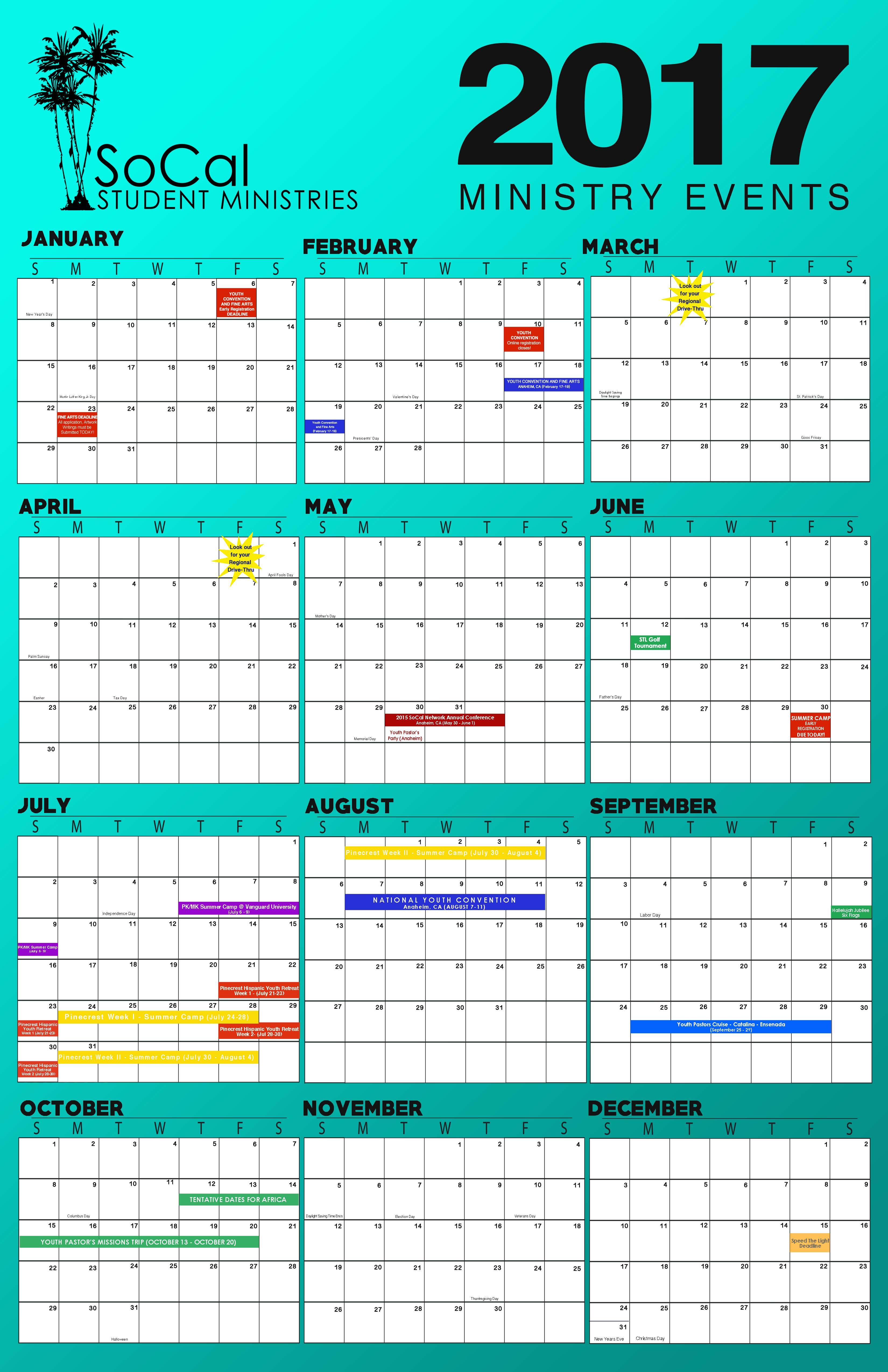 2017 Calendar 11x17